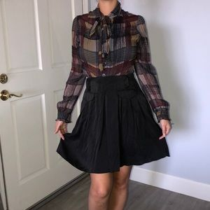 NWT 100% silk Bebe skirt